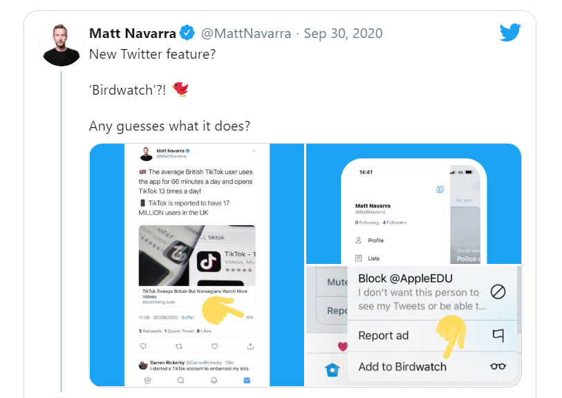 Боротьба з фейками: користувачі Twitter зможуть блокувати фейкові повідомлення