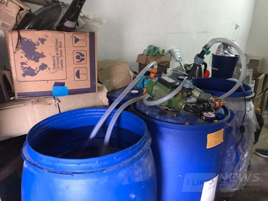 У Вінниці викрили підпільне виробництво aлкоголю