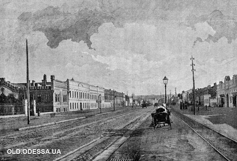 Въезд на Московскую улицу (на Пересыпи). Одесса. 1890-е годы. Фото: viknaodessa.od.ua