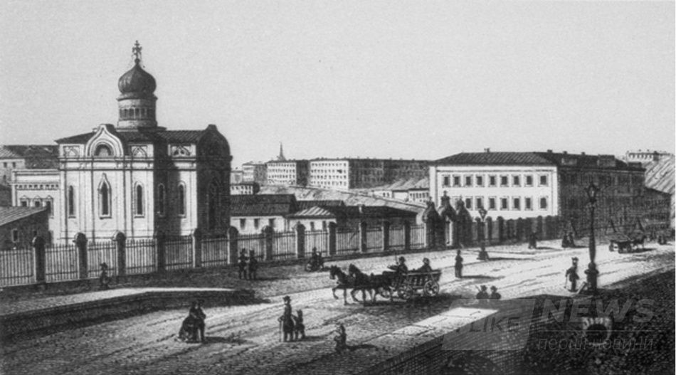 Казанская церковь до 1895 года.