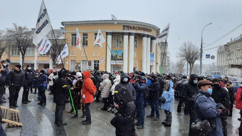 Мітинг під будівлею ОДА
