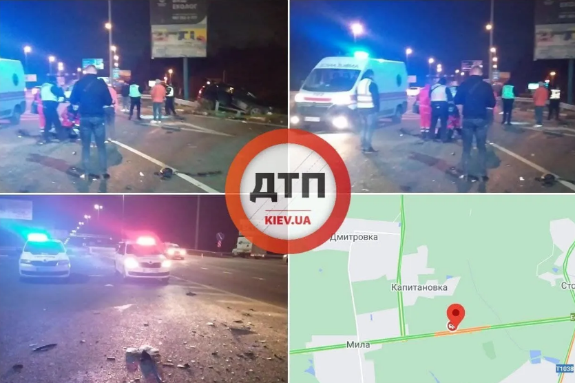 Жахлива автотроща: в результаті ДТП під Києвом загинуло дві людини